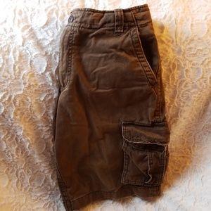 Aeropostale brand brown cargo shorts